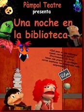 cartel una noche biblioteca