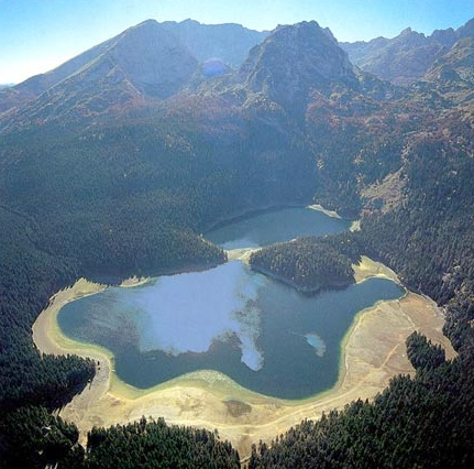 Crno Jezero, a glacial lake near Zabljak town, Montenegro