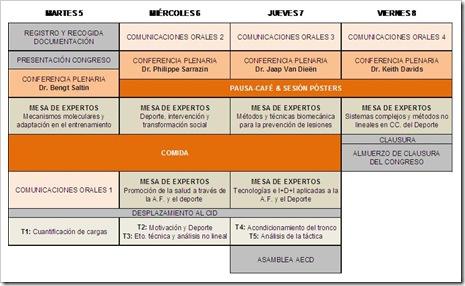 Progama Congreso Internacional Ciencias Deporte Elche 2010