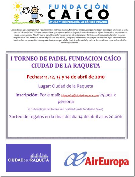 I Torneo Pádel Caico Ciudad Raqueta Madrid