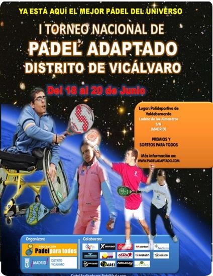 I Torneo Nacional Padel Adaptado Silla Ruedas, Junio 2010
