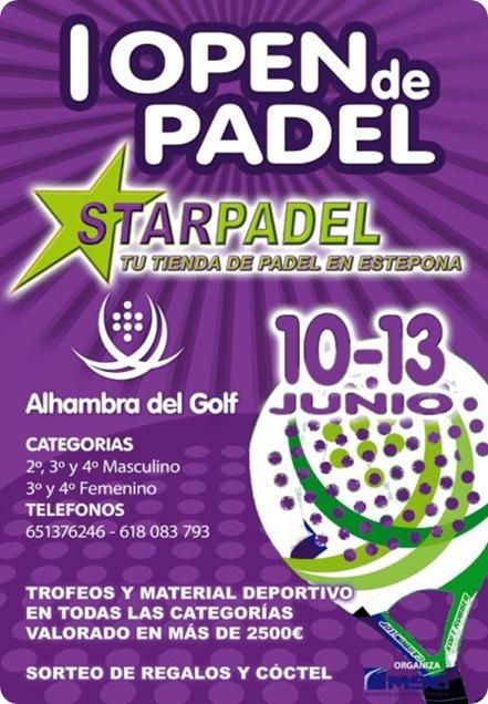 I Open de Padel STARPADEL Tienda Estepona Junio 2010