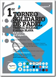 I Torneo Solidario Treball Solidaro S´Aigua Blava Mallorca 2010