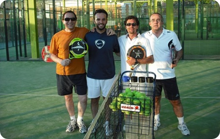 Amigos PlanetaPadel, Cesidio, Lorenzo y Jaime
