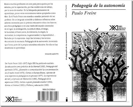 Pedagogia de la Autonomia, Paulo Freire, libro