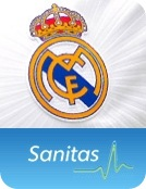 sanitas logo y real madrid cf