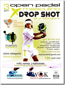 3º open match speed masculino drop shot inter 9 y 10 abril