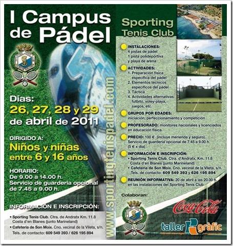 I campus de padel sporting tenis club mallorca abril 2011