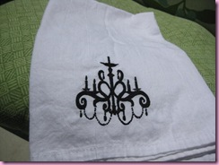 chandelier towel