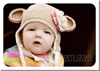 Mouse Hat in Almond and Creme