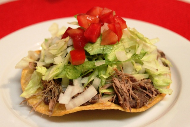 in My Kitchen: Beef Tostadas: a Comfort Food / Receta de Tostadas ...