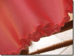 cape pink ruffle
