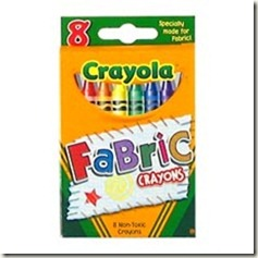 fabric crayons
