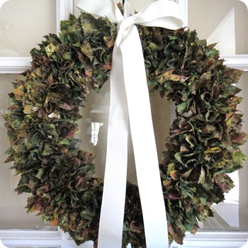 DIY Fabric Wreath