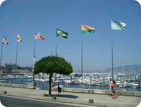 Bandeiras próximas a Marina