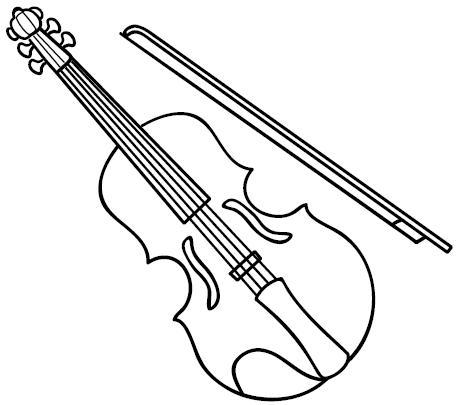 DIBUJOS PARA COLOREAR DE INSTRUMENTOS DE MUSICA