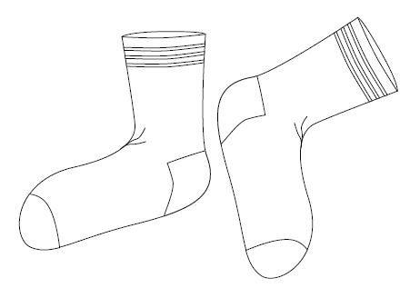 Dibujos para colorear de medias - Imagui