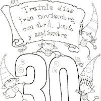 MESES DE 30 DÍAS