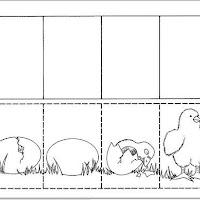 del huevo nació un pollito