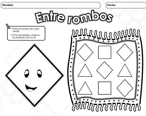 Cuadrados, triangulos y circulos para colorear preescolar - Imagui