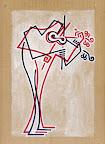 il Violinista - 1 - acrilico su cartone - 23x32 cm - 2007-2009