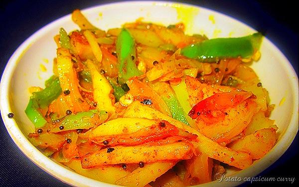 potato capscium curry