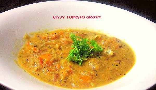 EASY TOMATO GRAVY 1