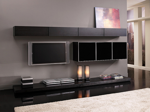 Modern living room furniture ideas with high end gadget  Home ...