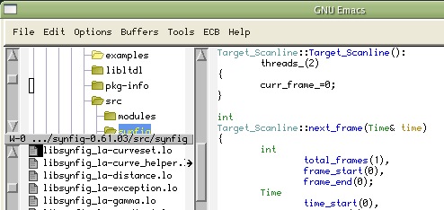 Emacs source code editor