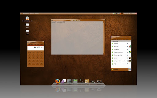 BurntOrangeIce Gnome Desktop theme