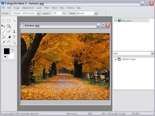 Fotografix image editing software - photoshop alternative