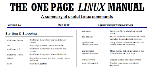 cheat sheets linux