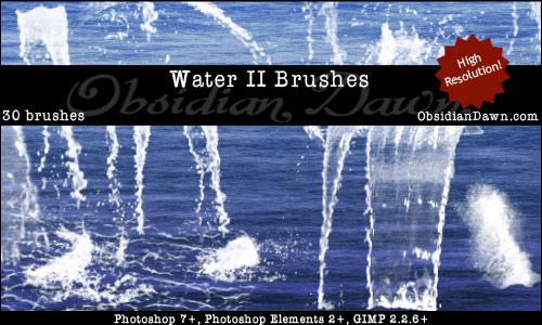 Water II Photoshop Brushes