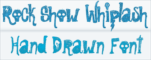 Rock Show Whiplash : Hand Sketch font