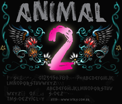 vtks Animal 2 : curvie Handwritten font