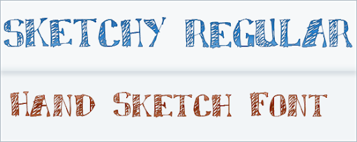Sketchy : hand Drawn Font