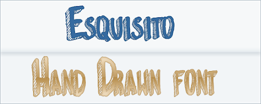 ESQUISTO : hand Drawn Font