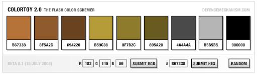ColorToy 2.0 - The Flash Color Scheme Generator