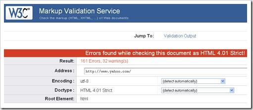 yahoo invalid html