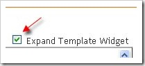 expand template widget