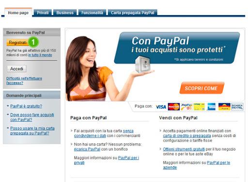Come aprire paypal