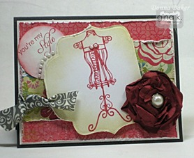 shabby card with flower