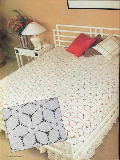 床罩图解 - 阿明的手工坊 - 千针万线