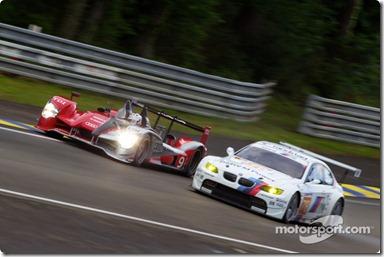 04-11.06.2010 Le Mans, France, #9 Audi Sport North America Audi R15: Mike Rockenfeller, Timo Bernhard, Romain Dumas, #78 BMW Motorsport BMW M3: Joerg Mueller, Augusto Farfus, Uwe Alzen
