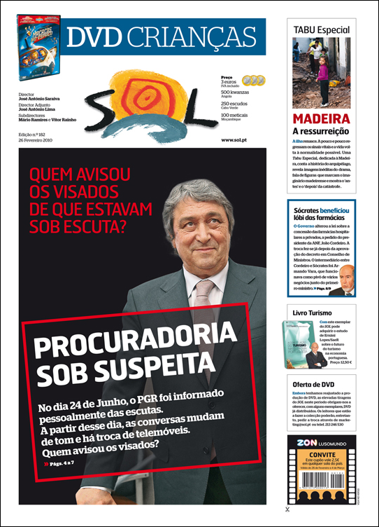SOL capa Edição n.º 182