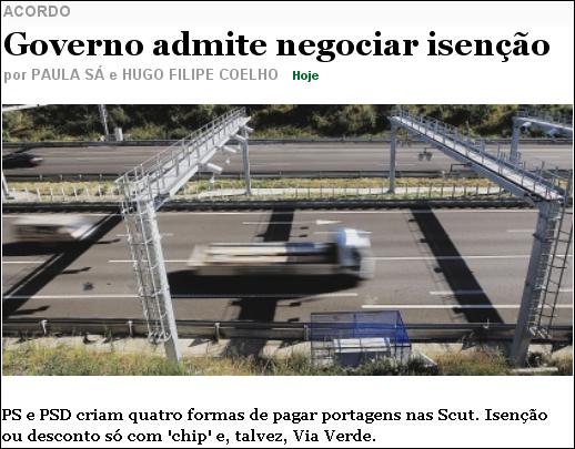 Governo admite negociar isenção