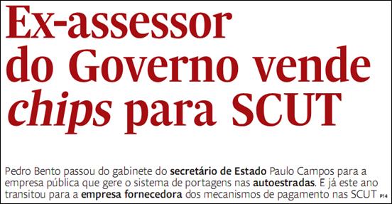 Ex-assessor do Governo vende chips para SCUT