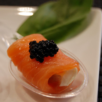 Smoked Salmon and Fresh Cheese Roll-ups