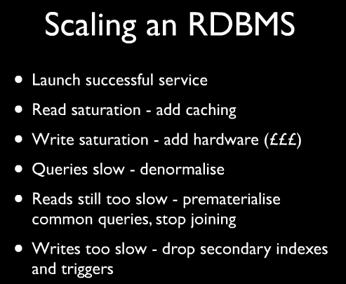 Scaling an RDBMS in 6 Steps