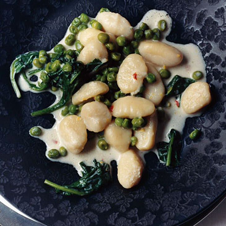 Lemon Gnocchi with Spinach and Peas